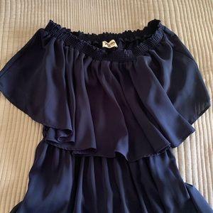 Show me your Mumu hacienda gown- navy
